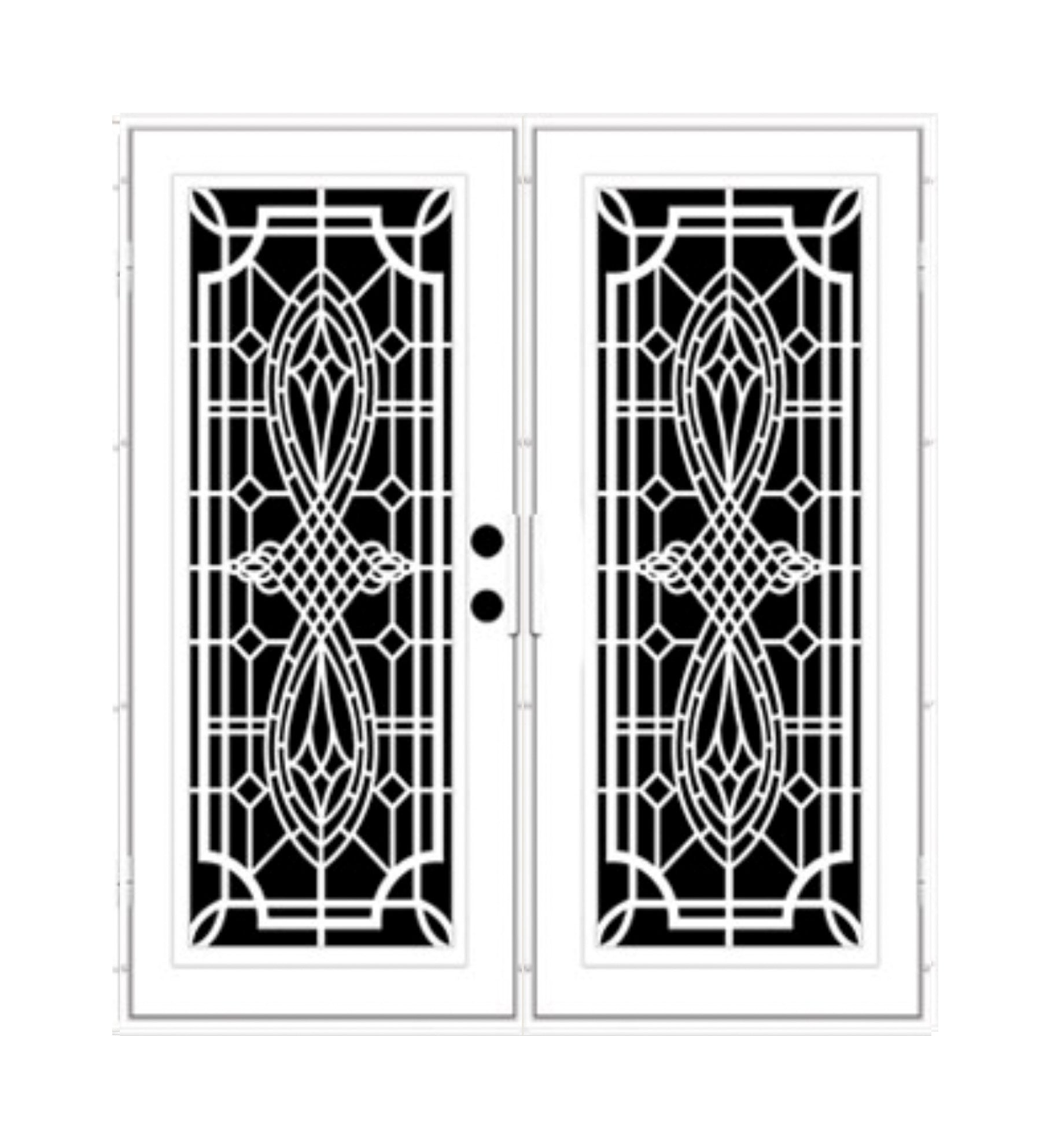 INSTALLED Titan Premium Aluminum Security Screen Double Door Folkstone   STARTING $2,341