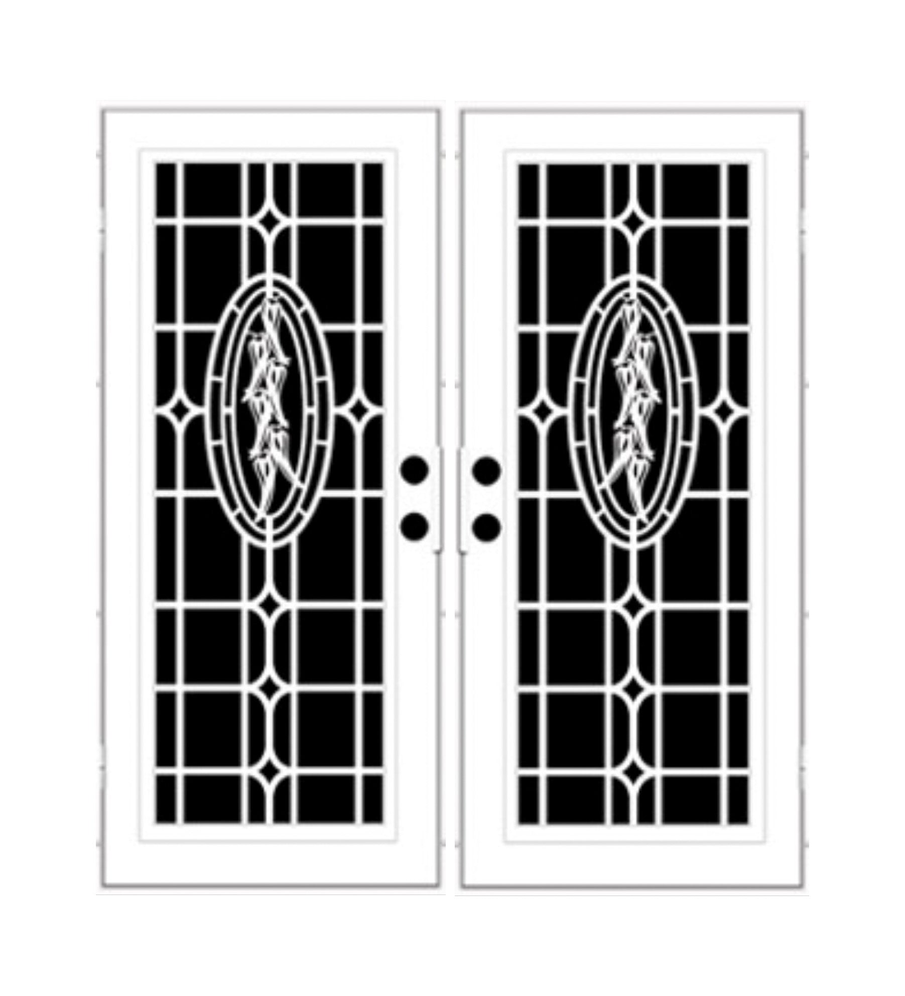INSTALLED Titan Premium Aluminum Security Screen Double Door Chili Ristra    STARTING $2,341