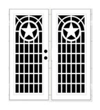 INSTALLED Titan Premium Aluminum Security Screen Double Door Texas Star    STARTING $2341