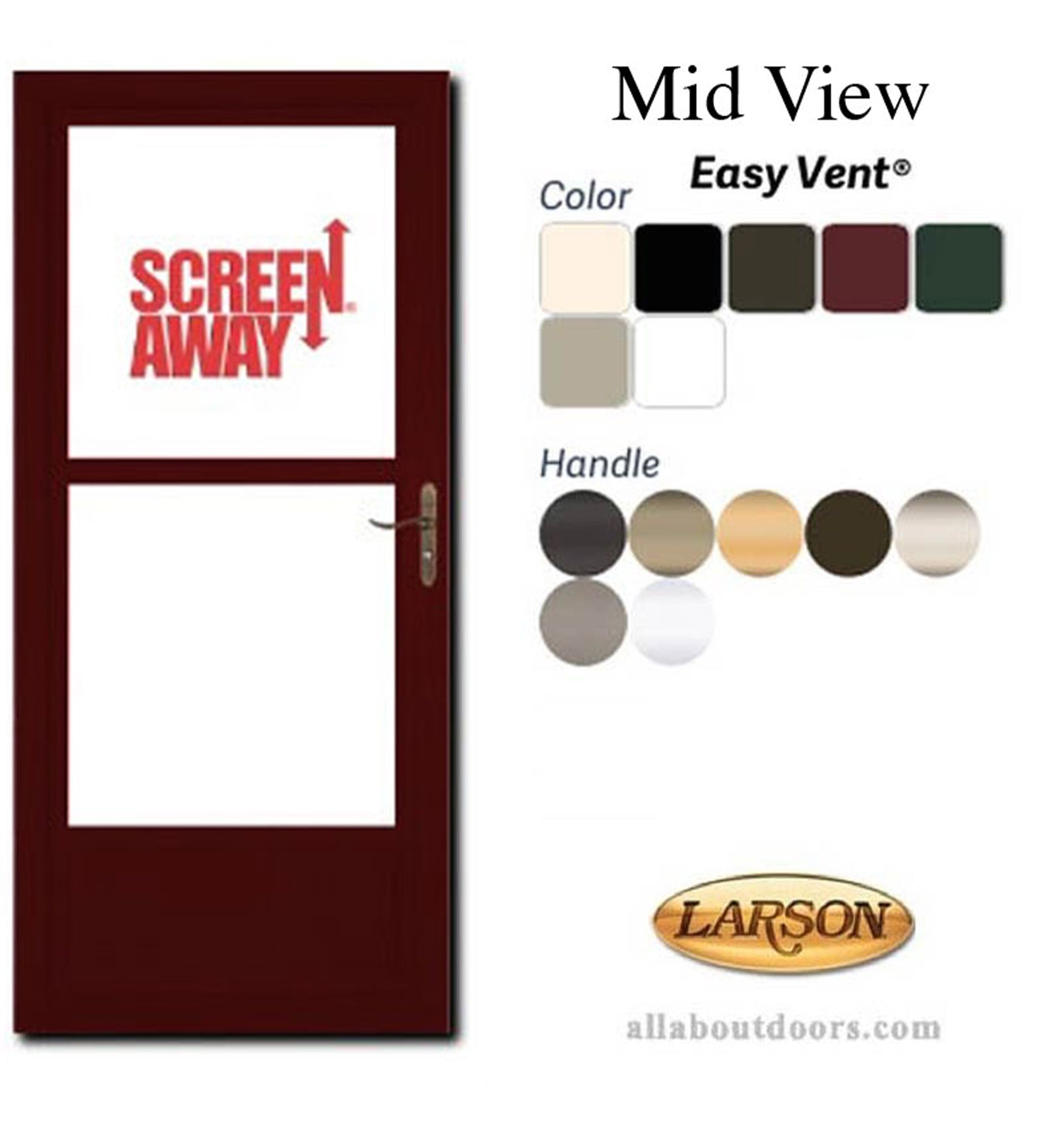 INSTALLED Larson Life Style Mid-View Storm Door w/ Hardware STARTING $527.99