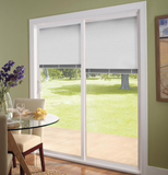 INSTALLED Pella Blinds Between the Glass White Vinyl Sliding Patio Door