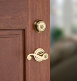 Kwikset Lido Venetian Smartkey Single-Cylinder Deadbolt Door Handle