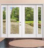 INSTALLED ReliaBilt Primed with Low-E Glass Steel Double French Door with Sidelights STARTING $1724