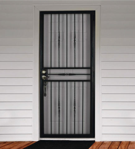 INSTALLED Steel Security Single Door Cottage Rose