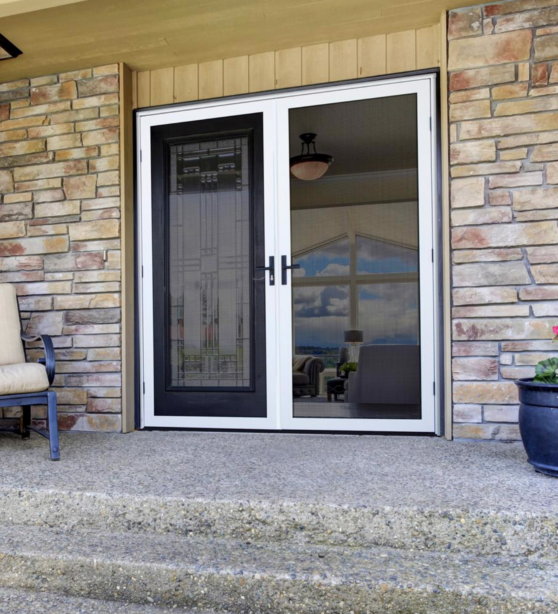 INSTALLED Ultimate Security Screen Double Door