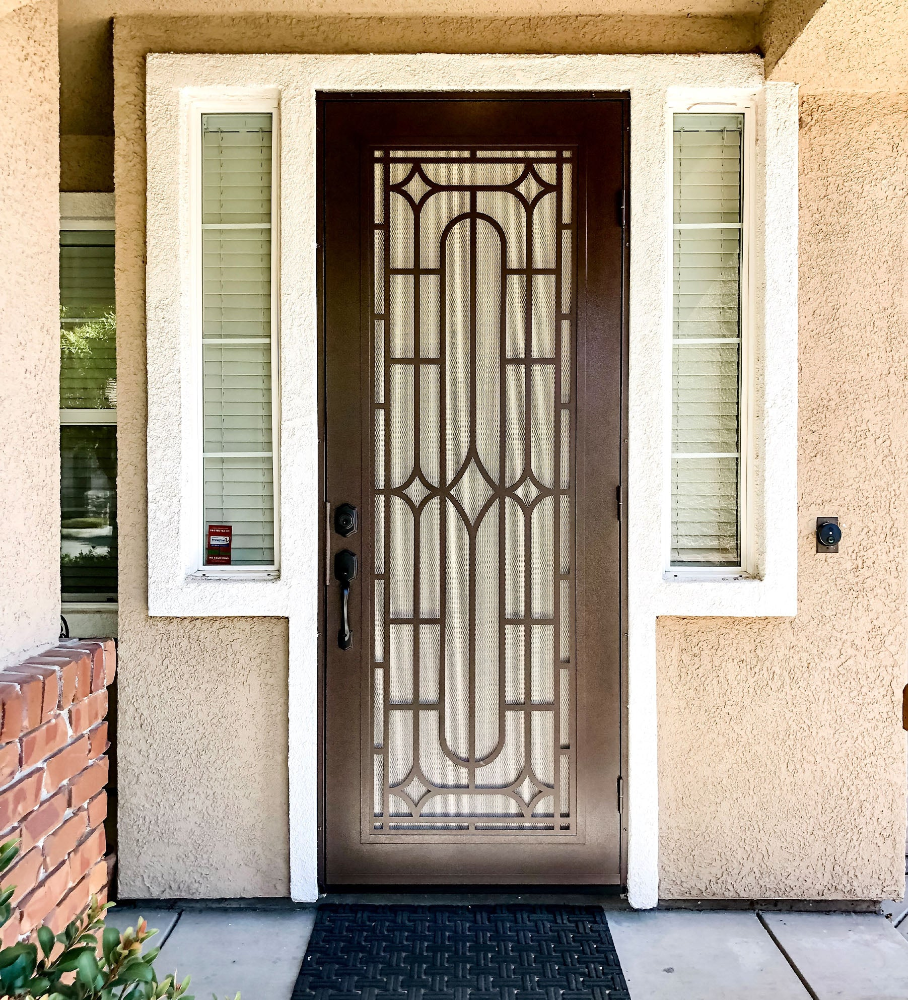 INSTALLED Titan Premium Aluminum Security Screen Single Door Winchester      STARTING $1,110