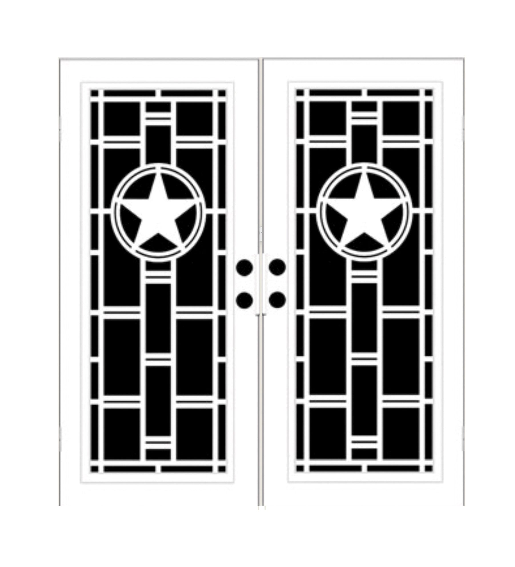 INSTALLED Titan Premium Aluminum Security Screen Double Door Heart of Texas     STARTING $2,376