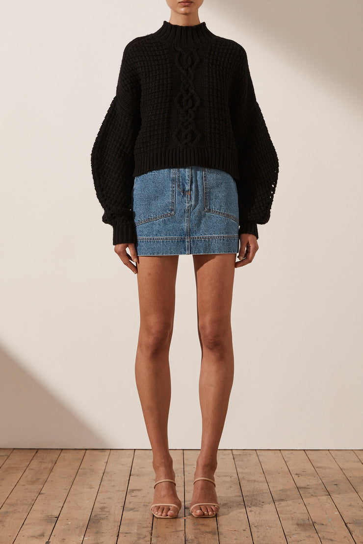 Shona Joy Cocoon Sleeve Cable Jumper