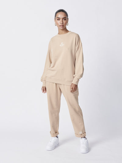 Ena Pelly Core Logo Sweatshirt Latte