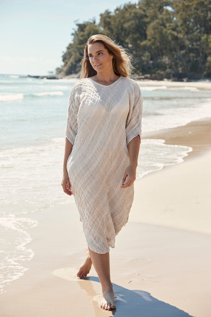 Kate Bias Dress Natural - One Size