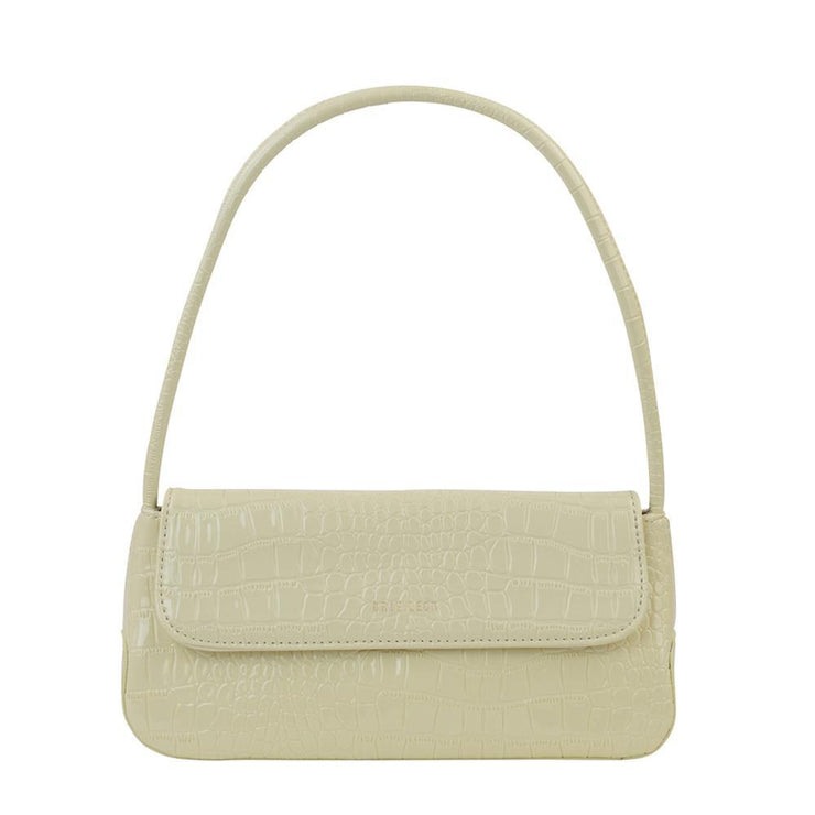 The Camille Croc White Bag