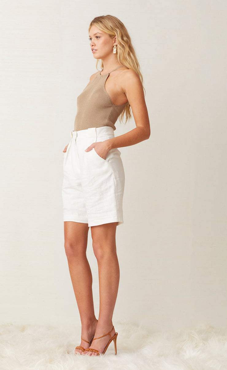 Bec + Bridge Coral Club Short in Ivory