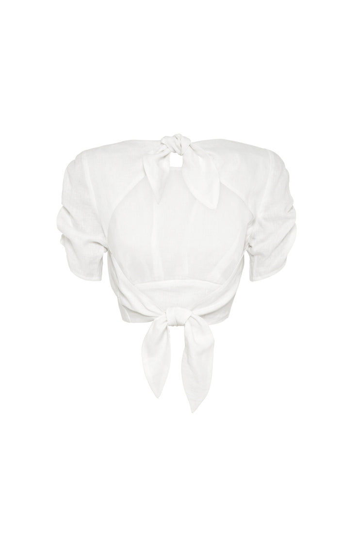 Hansen & Gretel Maddy Top in White