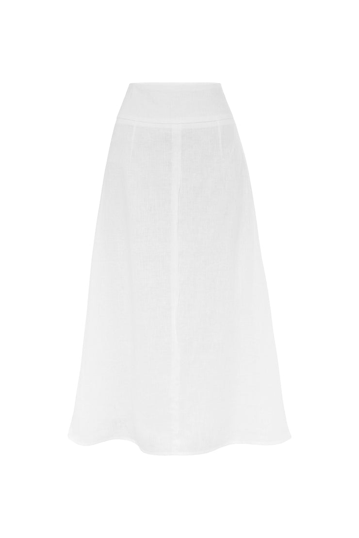 Hansen & Gretel Mikaela Skirt in White