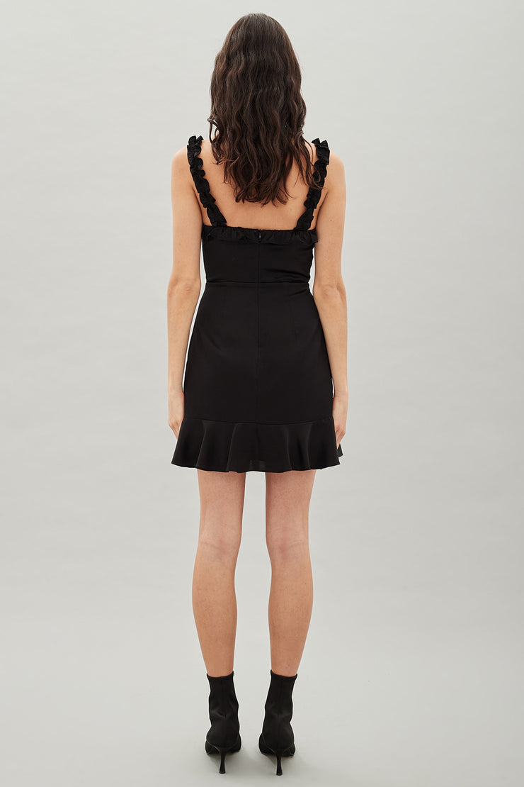 Hansen & Gretel Saint Silk Dress in Black