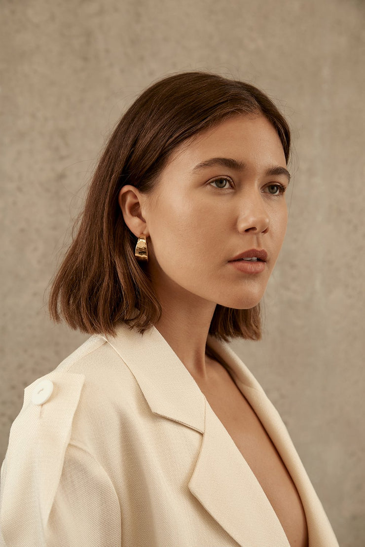 Brie Leon Sabana Stud Hoop Earrings