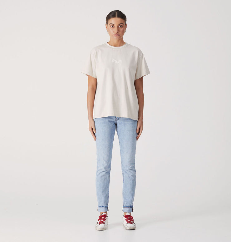 Ena Pelly Script Embroidered Tee