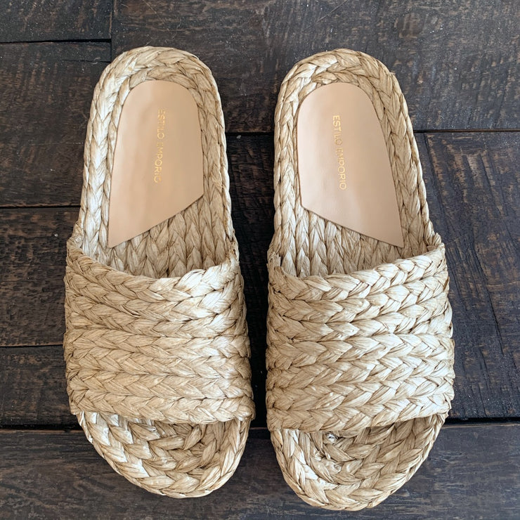 Estilo Emporio Braided Mule Natural