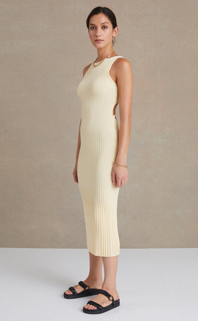 Lyla Knit Midi Dress Butter