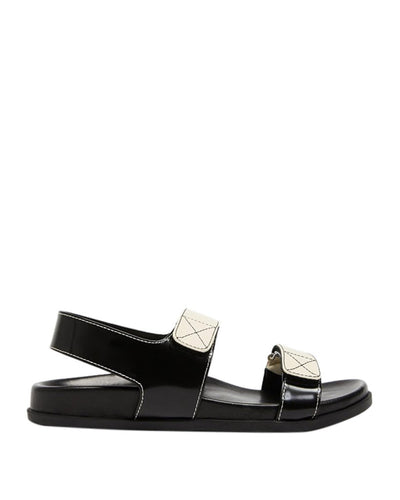 Solsana Elsa Wedge Black/White