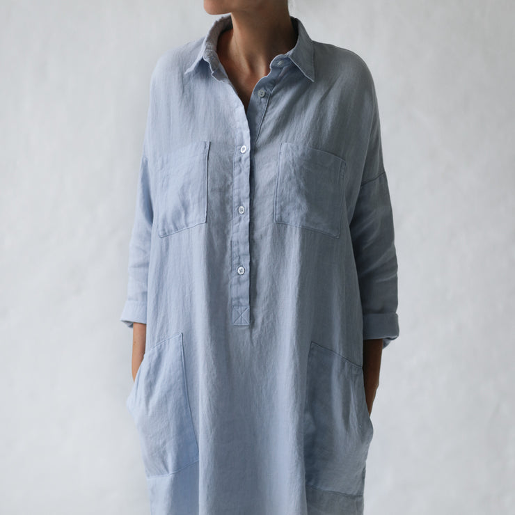 Blue Shirt Dress