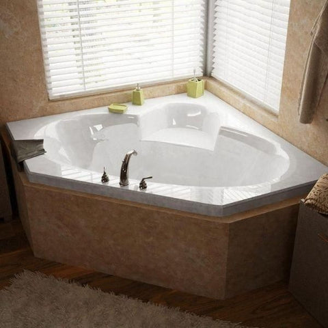 Atlantis Sublime 60 x 60 Corner Soaking Whirlpool Bathtub 6060S Front View