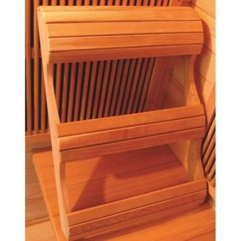 SunRay Bristol Bay 4 Person Infrared Sauna HL400KC Ergonomic Backrest View