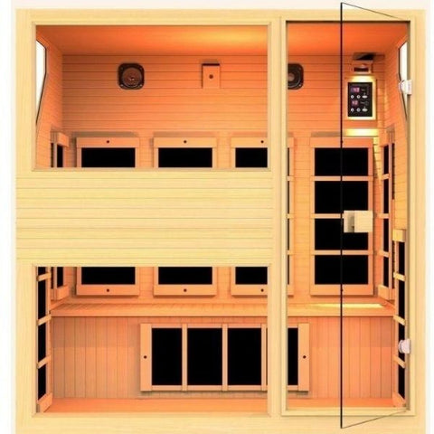 4 Person Infrared Sauna Front View