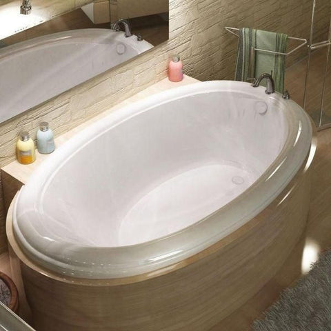 Atlantis Petite 44 x 78 Oval Soaking Whirlpool Bathtub 4478PC Front View