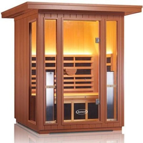 Clearlight Sanctuary 2 Outdoor Infrared Sauna Front View
