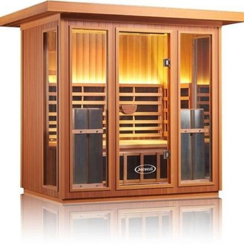 Clearlight Sanctuary 5 Outdoor Infrared Sauna Front Side View