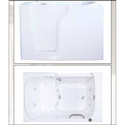 Mobility Bathworks Bathtubs Soaker  3355 Front and Top View