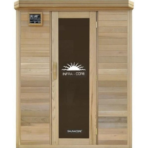 SaunaCore Infrared Saunas Horizon Purity Traditional  Front View