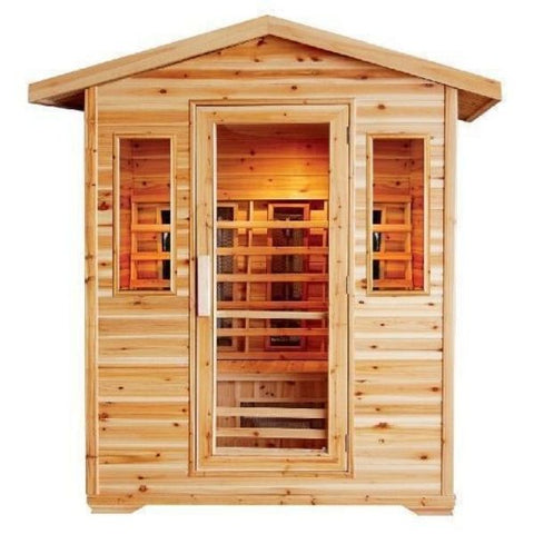 Saunas SunRay Cayenne 4 Person Outdoor Infrared Sauna HL400D Front View