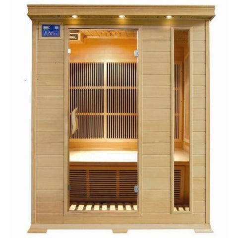 SunRay Aspen 3 Person Infrared Sauna HL300C Front View