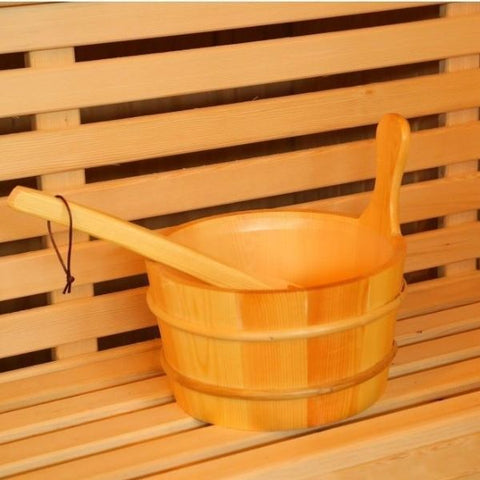 SunRay Baldwin 2 Person Traditional Sauna HL200SN Bucket and Ladle View