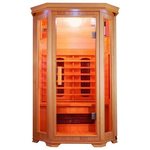 SunRay Heathrow 2 Person Infrared Sauna HL200W Front View