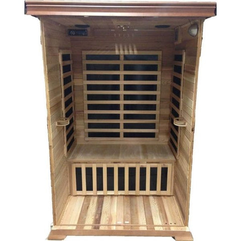 SunRay Sierra 2 Person Infrared Sauna HL200K Open Inside View
