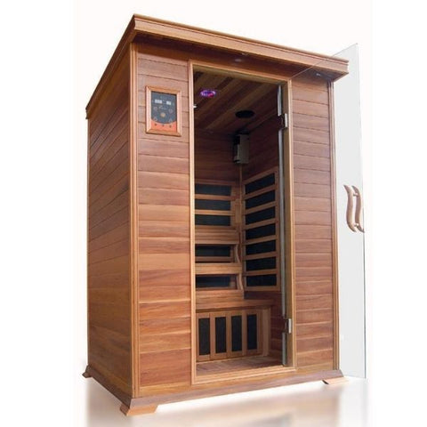 SunRay Sierra 2 Person Infrared Sauna HL200K Front View