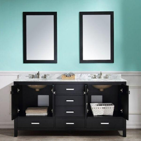 ANZZI Bathroom Vanities ANZZI Bath Vanity Rich Black Cabinet View V-CHN012-72