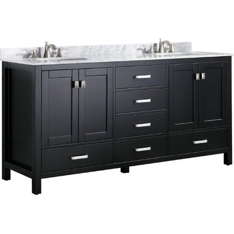 ANZZI Bathroom Vanities ANZZI Bath Vanity Rich Black  Front Side View V-CHN012-72