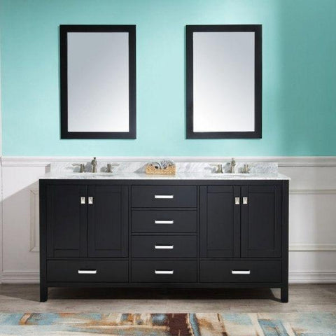 ANZZI Bathroom Vanities ANZZI Bath Vanity Rich Black  Front View V-CHN012-72
