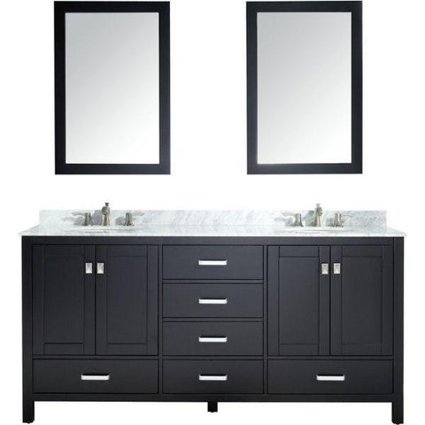 ANZZI Bathroom Vanities ANZZI Bath Vanity Rich Black V-CHN012-72 Front View