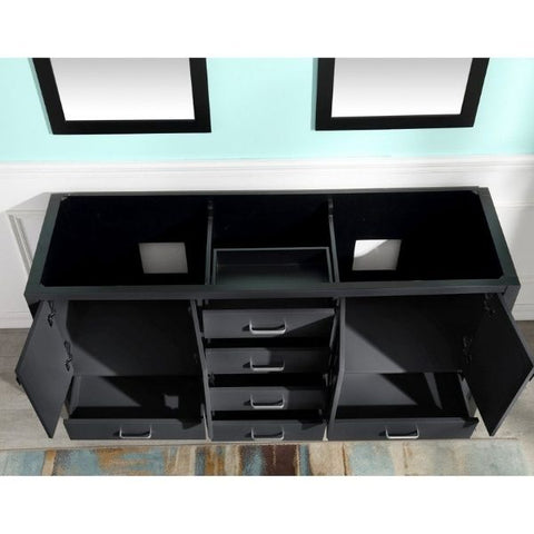 ANZZI Bathroom Vanities ANZZI Bath Vanity Rich Black V-CHN012-72 Inside View