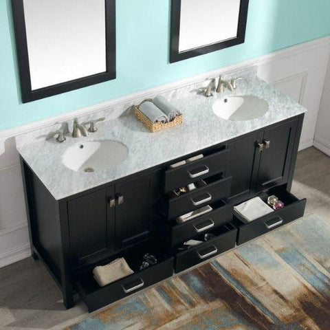 ANZZI Bathroom Vanities ANZZI Bath Vanity Top View  Rich Black V-CHN012-72
