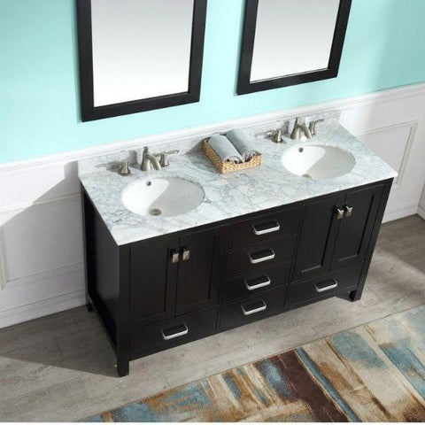 ANZZI Bathroom Vanities ANZZI Chateau Bathroom Vanity V-CHO015-60 Undermount Sink View