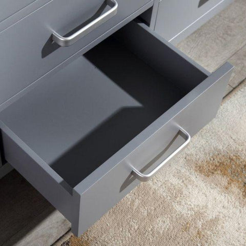 ANZZI Bathroom Vanities ANZZI Chateau Rich Gray Double Bathroom Vanity Drawer View V-CHO013-60