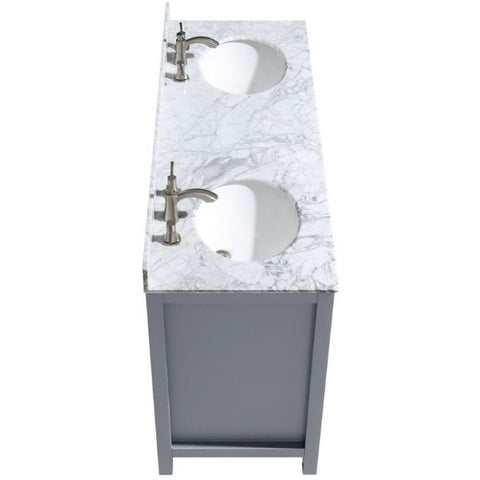 ANZZI Bathroom Vanities ANZZI Chateau Rich Gray Double Bathroom Vanity Side Top View V-CHO013-60