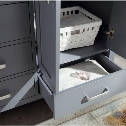 ANZZI Bathroom Vanities ANZZI Chateau Rich Gray Double Bathroom Vanity V-CHO013-60 Cabinet Drawer View