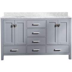ANZZI Chateau 60 x 36 Rich Gray Double Bathroom Vanity V-CHO013-60